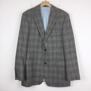 Hugo Boss sport coat Pasolini 52R brown grey blue